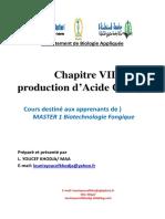 Chapitre VII Production d Acide Citrique 2