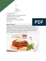 Espaguete de Bifum