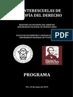 Programa - Red Interescuelas de Filosofía Del Derecho (Universidad Nacional de Tucumán)