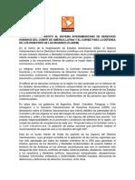 Declaración de CLADEM Ante La Nota de Varios Países a La Comisión Interamericana
