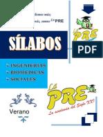 Silabos La Pre Verano 2019