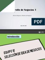 2B DN1 Idea de Negocio y Modelo de Negocio