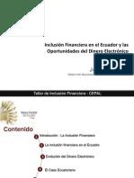 Jorge Moncayo - Inclusion Financiera - Innovacion de Instrumentos - Dinero Electronico