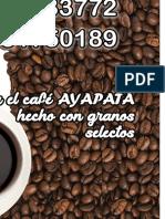 Cartel de Cafe Ayapata 112121212