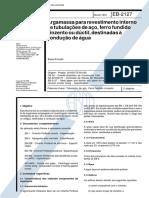 NBR 11828 Eb 2127 - Argamassa Para Revestimento Interno de Tubulacoes de Aco Ferro Fundido Cinzento Ou D
