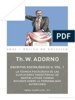 Adorno, T. W., Estudios sobre la personalidad autoritaria.pdf