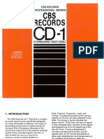 CBS Records CD-1 Test Disc