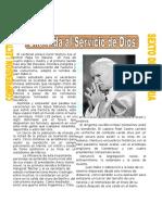 Una Vida Al Servicio de Dios Para Sexto de Primari