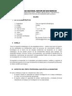 Sílabo Tesis en Ingeniería Metalúrgica Competencias