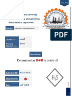 Pollutin Lab Report EXP.. No.2