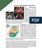 Multiculturalidad y Plurilingüismo en Guatemala