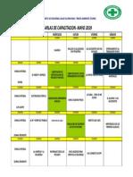 8.11 Cronograma de Charlas Mayo 2019