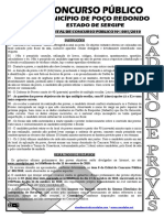 Consulplan 2010 Prefeitura de Poco Redondo Prova