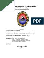 Mezclas y Soluciones Azeotroprica