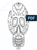 Day of the Dead Mask to Color