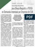 Edgard Romero Nava CPV Ofrece Respaldo a PDVSA - El Universal 12.10.1984