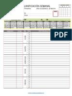 Planificador Semanal Primaria Programaciones 6 Horas 2018 2019 1