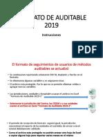INSTRUCCIONES FORMATO DE AUDITABLE 2019.pptx