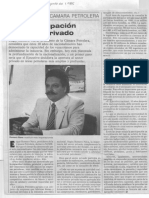 Edgard Romero Nava Mas Participación al sector privado - Revista Numero 25.08.1985