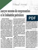 Edgard Romero Nava Mayor Acceso Empresarios a La Industria - El Nacional 10.03.1985