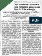 Solucion Problema Financiero Industria Petrolera Es de Vida o Muerte - El Universal 25.11.1983