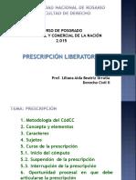 Prescripción - Codigo Civil y Comercial de La Nacion 1