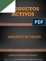 PRODUCTOS FINANCIEROS - ACTIVOS Y PASIVOS
