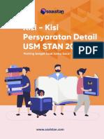 Persyaratan Detail USM STAN 2019