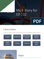 my e-story ed 112
