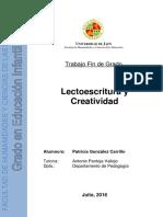 Gonzalez Carrillo Patricia TFG Educacion Infantil