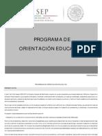 Programa de orientación educativa de la dgb