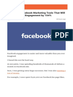 17 Hidden Facebook Marketing Tools That Will Increase Your Engagement by 154%