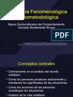 Sociologia Fenomenologica y Etnometodologica