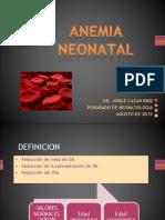 clase de anemia neonatal