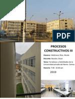 Informe Procesos - Universidad Privada del norte -Sede Comas