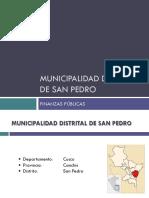 Analisis de PIA - Municipalidad Distrital de San Pedro 2013