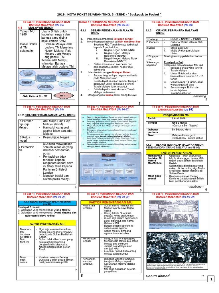 Nota Sejarah Form 5 Bab 4 Pdf