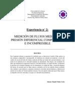 Lab 2 Mediciones de Flujo