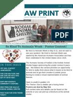 Humane Society of Kodiak Spring Newsletter 2019