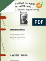 Segundo Gobierno de José Pardo y Barreda