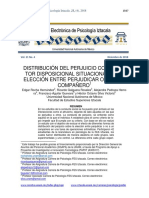 Distribución del perjuicio como factor disposicional situacional en la elección entre perjudicar o no a un compañero