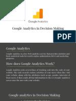 Google Analytics in Decision Making