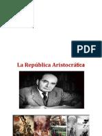 Republica Aristocrática.parte 1