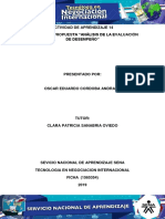 Evidencia 7 Propuesta Análisis de La Evaluación de Desempeño