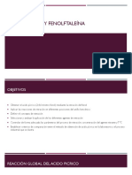 Acido Pícrico y Fenolftaleína