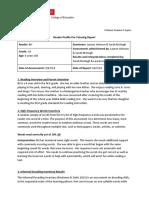 reader profile initial report bri