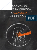 Manual Contra Censura Escolar - Dedefesa Contra a Censura Na Escola