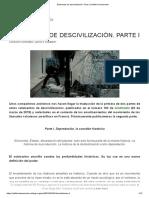 Elementos de Descivilización. Parte I _ Artillería Inmanente
