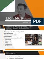 Presentacion de la biografía de Elon Musk