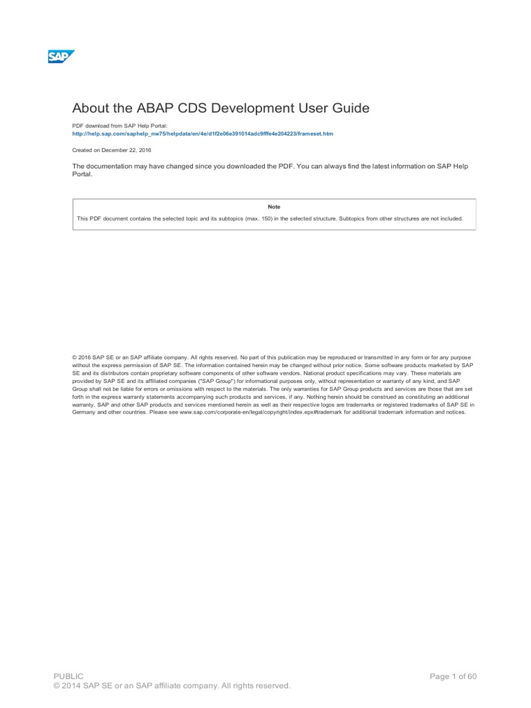 Abap Cds Examples